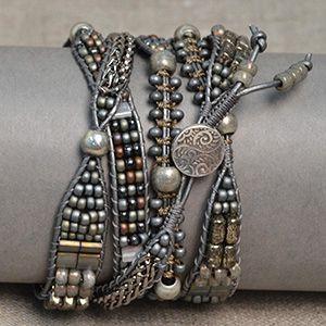 charcoal wrap bracelet - Google Search