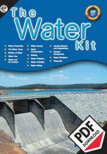 The Water Kit Ages 11+ ebook. Emphasis on fresh water. A variety of learning areas are covered including, science, society and environment, language, health, art and craft, and drama. Detailed teachers notes accompany each activity.