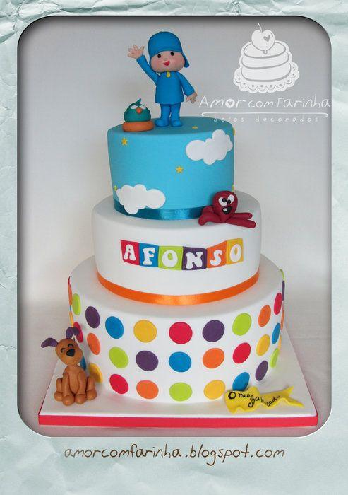 Pocoyo and friends - by AmorcomFarinha @ CakesDecor.com - cake decorating website
