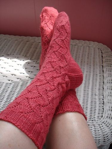 Eyelet And Flame Chevron Pattern By Vogue Knitting Sock It To Me