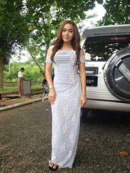 Cr.fb/myanmar dress design