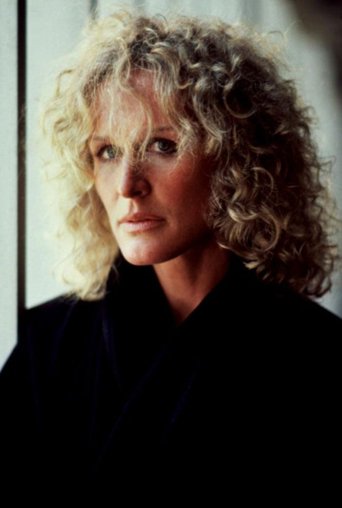 """Glenn Close in (Fatal Attraction), 1987.Should have won oscar for role.Cher won """"Snap out of it""""."""