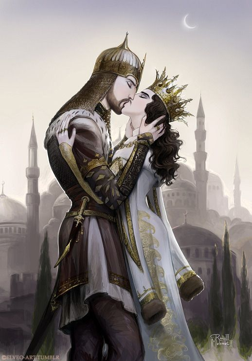 "Mehmed the Conqueror and Radu, son of Dracul.And my translation of Sultan's poem under his pen name Avni, ghazal (lyric poetry) no.2: ""If my eyes shed tears of my heart's pain about you, Then my..."