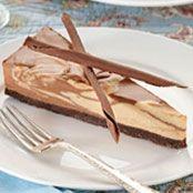 Dark Chocolate Peanut Butter Swirl Cheesecake