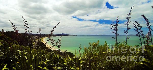 From the lookout at Eastern Beach, Auckland, New Zealand.