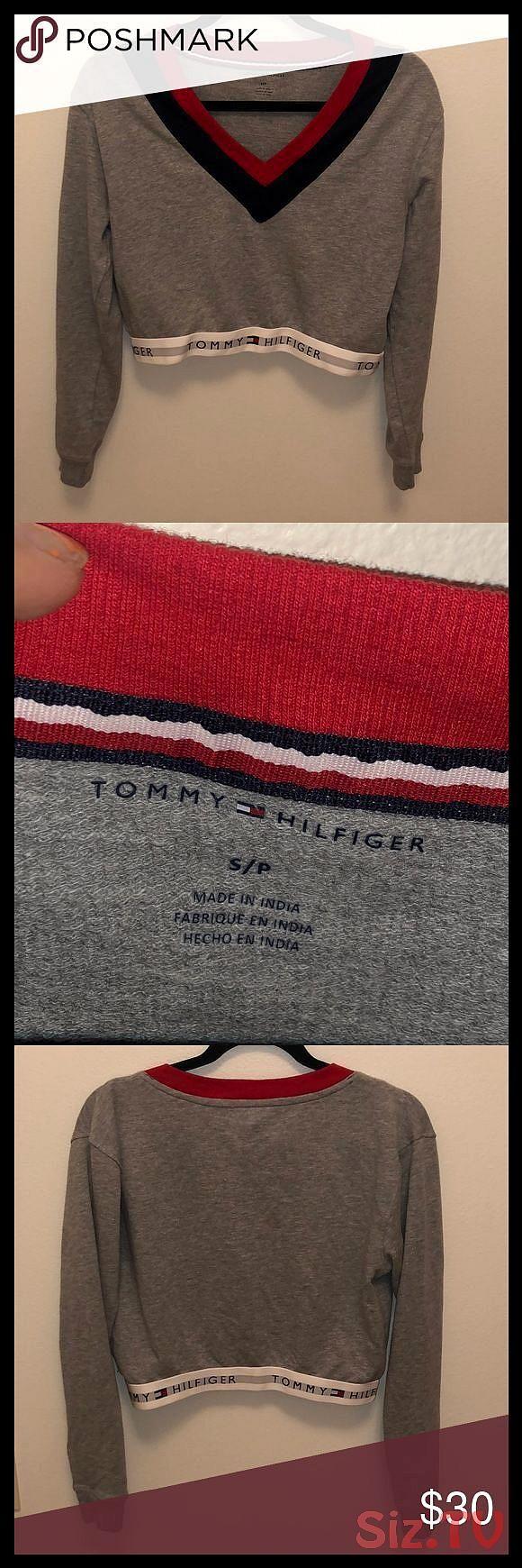 Tommy Hilfiger Crop Sweatshirt Tommy Hilfiger Crop Sweatshirt Worn Once Gray Red And Navy Tommy Hilfiger Crop Sweatshirt Tommy Hilfiger Tops Sweatshirts Hoodie [ 1740 x 580 Pixel ]