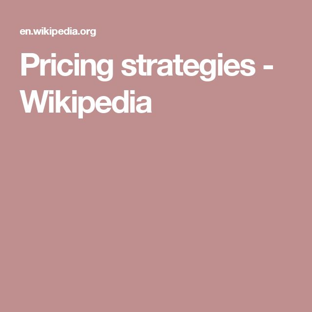 Pricing strategies - Wikipedia