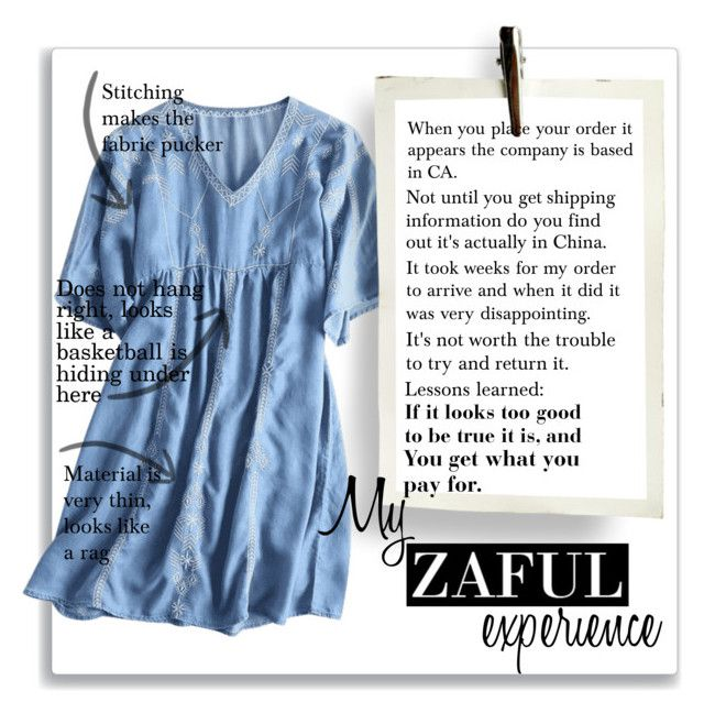 """""""Zaful Dress (Please Read)"""" by doozer ❤ liked on Polyvore"""
