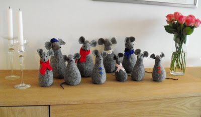 Moski: My mother made these cute mice - Mammas julemus