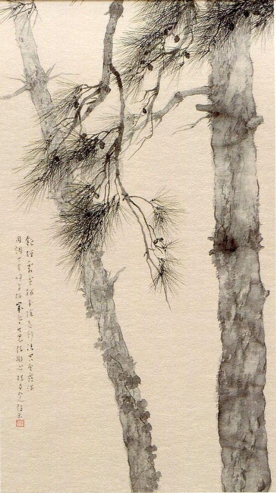 De la légèreté de l'encre de Chine ! /  China Ink. / Pins. / Pines.
