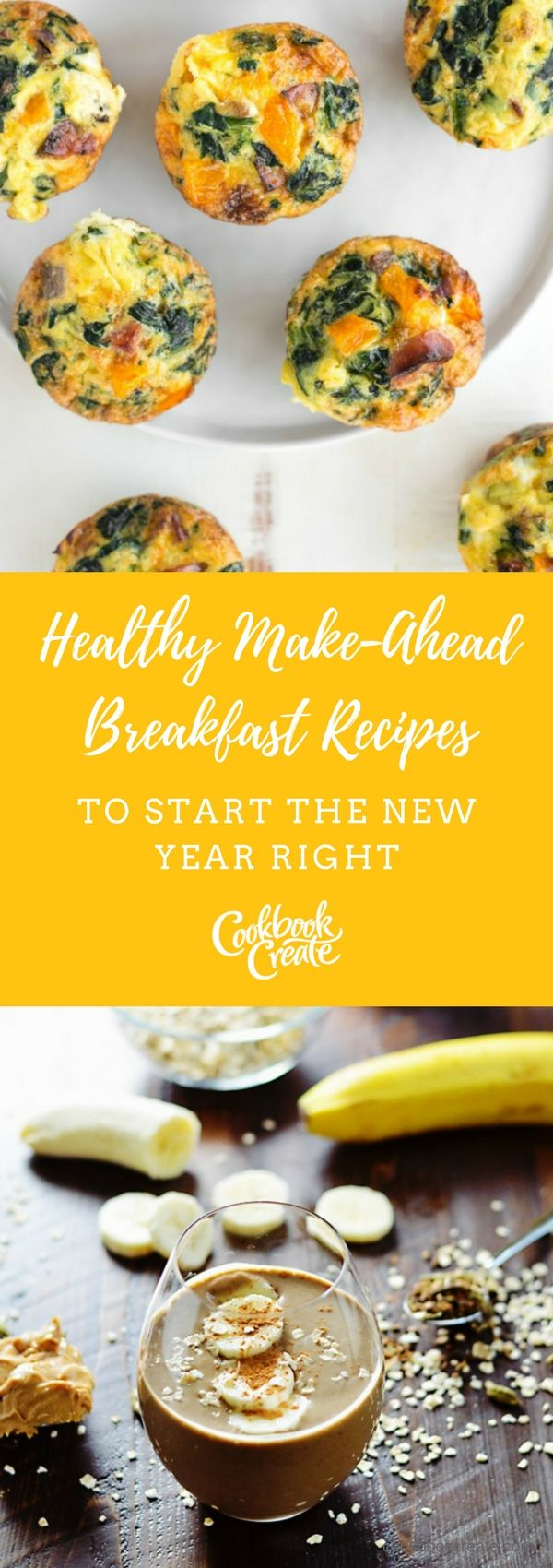 If mornings are a bit hectic, try some recipe that you can make-ahead of time! Try these great recipes out and start your meal-prep routine!