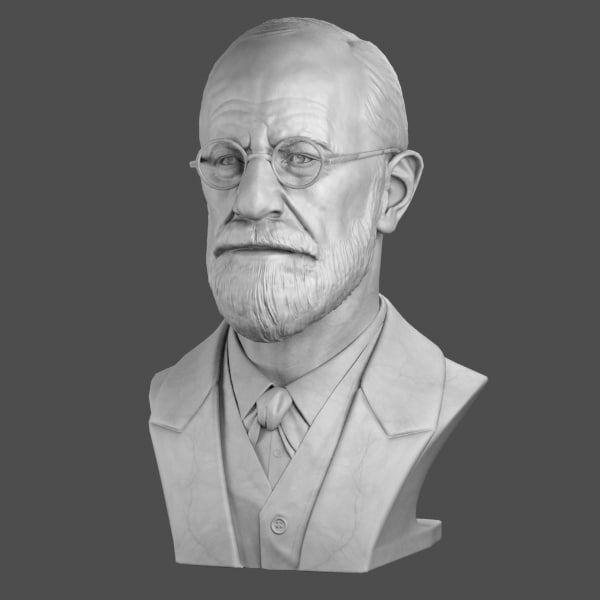 Decorative Bust Sigmund Freud 3d Max Freud Sigmund Freud Art Deco Fashion