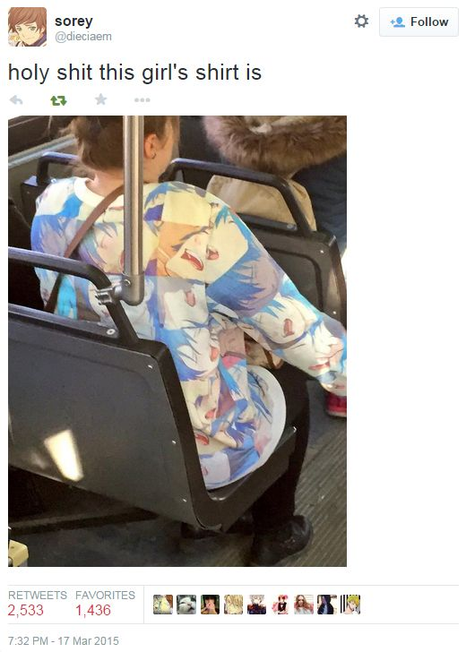 This girl is wearing all your fan art abominations