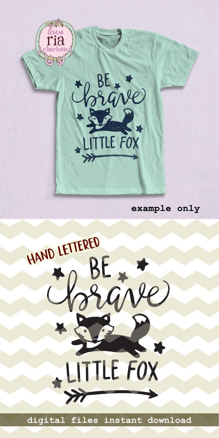 Be brave little fox, cute fun kids woodland animal arrow digital cut files, SVG, DXF, studio3 for cricut, silhouette cameo, diy vinyl decals by LoveRiaCharlotte on Etsy