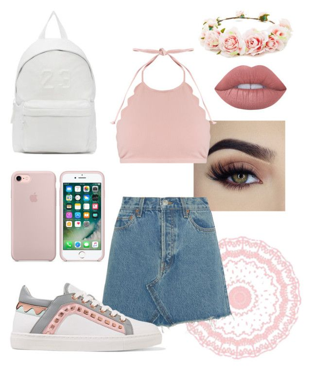 """""""Bohemian Style"""" by soolillanes on Polyvore featuring moda, Forever 21, Joshua's, Lime Crime, Marysia Swim, RE/DONE y Sophia Webster"""