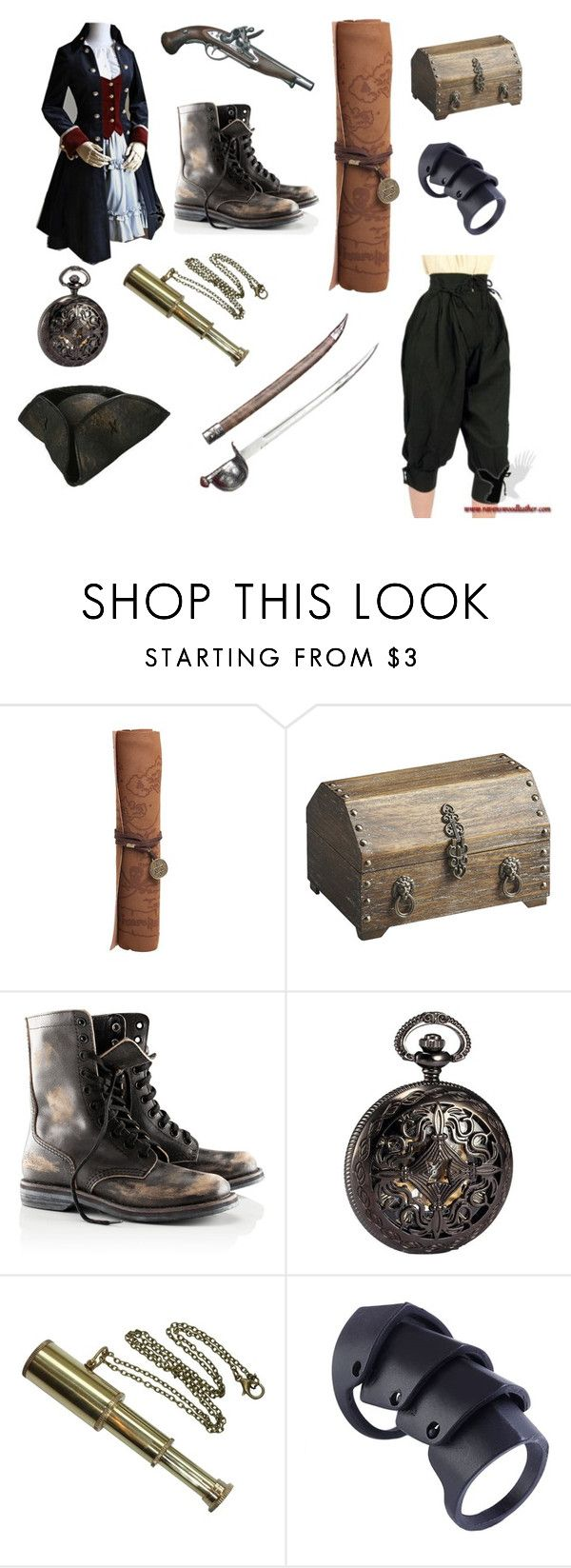 """Pirate!"" by gryffindorgirl-i ❤ liked on Polyvore featuring Retrò, Dot & Bo and H&M"