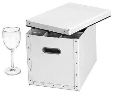 Cargo Moderne Stemware Storage Box transitional-dinnerware-and-stemware-storage