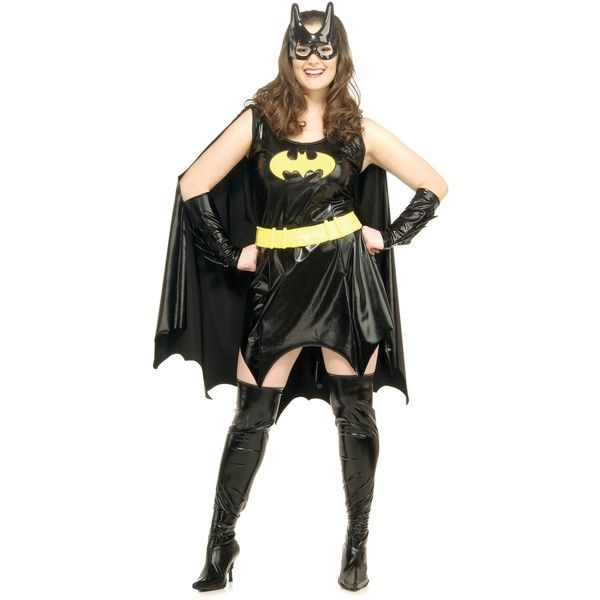 Batgirl Plus Size Costume ($60) ❤ liked on Polyvore featuring costumes, halloween costumes, multicolor, plus size, sexy plus size womens halloween costumes, plus size halloween costumes, plus size womens halloween costumes, vinyl costume and sexy costumes