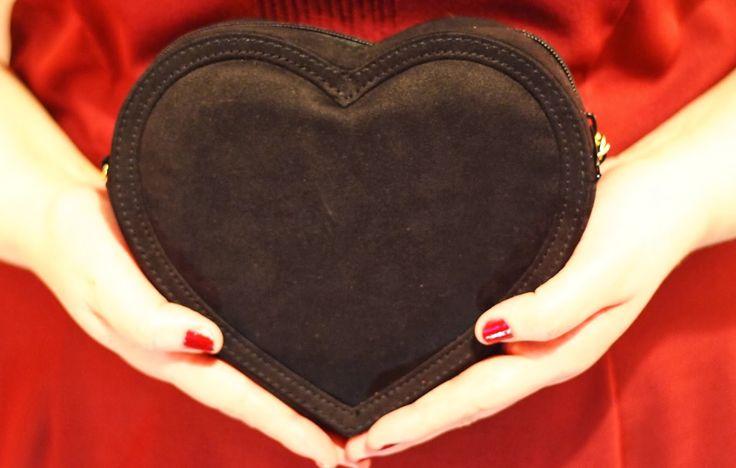 H&M Black Heart bag