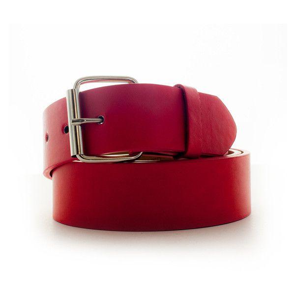 Men's Faddism Genuine Leather Belt ($12) ❤ liked on Polyvore featuring men's fashion, men's accessories, men's belts, belts & suspenders, red, mens red belt and mens belts
