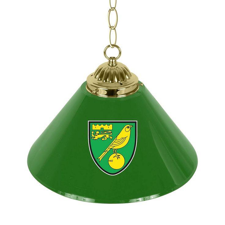 Norwich City FC Single Chrome Bar Lamp, Green