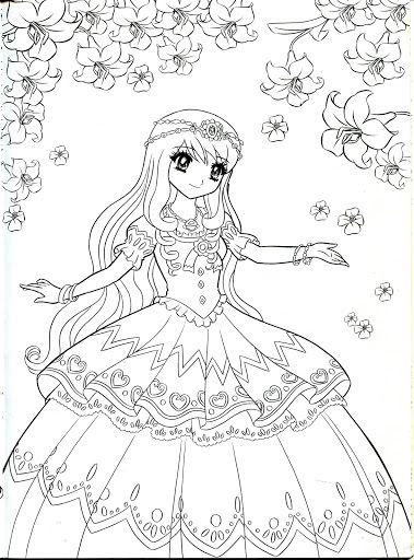 Anime Princess Coloring Pages Periodic Tables Anime Princess Coloring Pages
