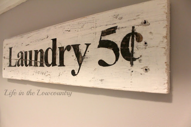 Life in the Lowcountry: DIY Laundry Room Sign