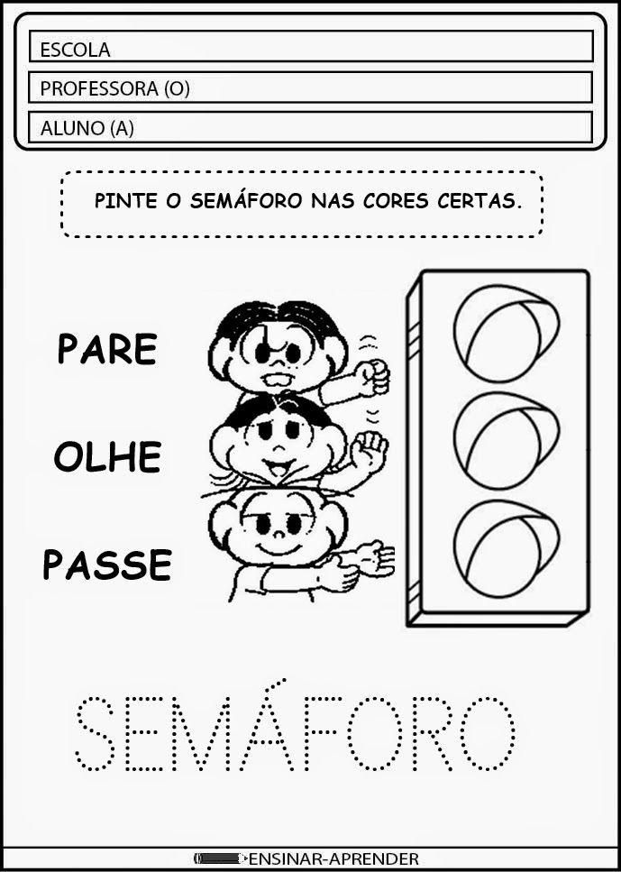 """ATIVIDADES ESCOLARES SEMANA DO TRÂNSITO ~ """"Atividades Escolares"""""""