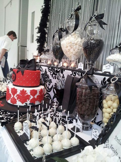 Black and White Birthday Party Ideas | Photo 8 of 12 | Catch My Party #blackandwhite #partyideas