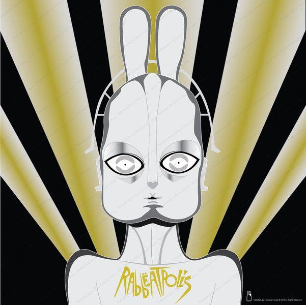 Serie Pósters de Películas, Ilustración Digital* de Rabbëats by la chica conejo* por DaWanda.com