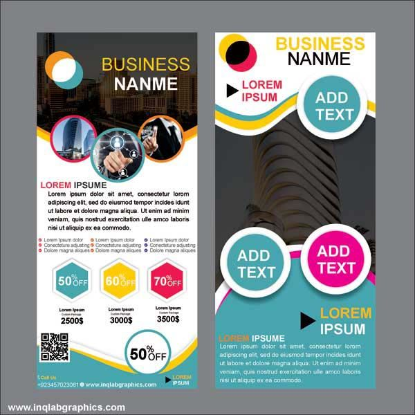 Roll up banner stand, Retractable Banner, Free photo vector and Cdr file