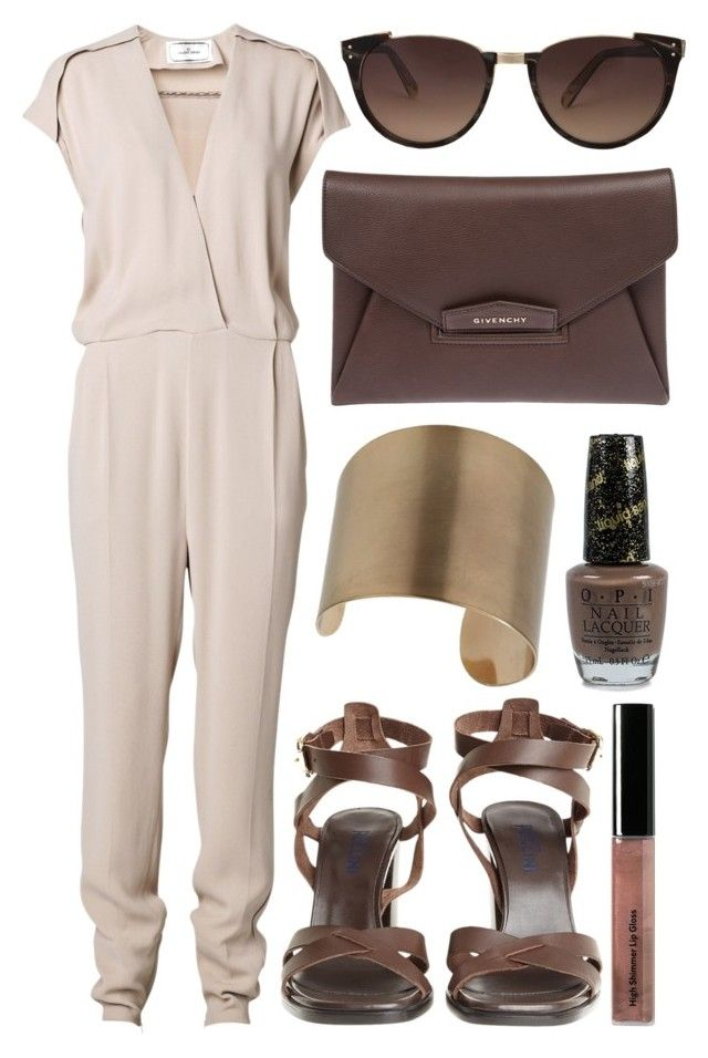 """""""street style"""" by sisaez ❤ liked on Polyvore featuring By Malene Birger, Bobbi Brown Cosmetics, Wallis, OPI, Givenchy and Linda Farrow"""