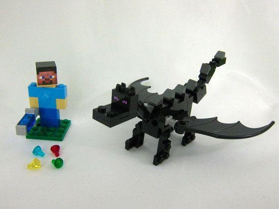 Лего майнкрафт как сделать эндер дракона