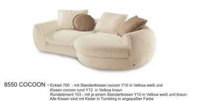 Polstergruppe 8550 - Stoffsofa COCOON | Sofas Outlet
