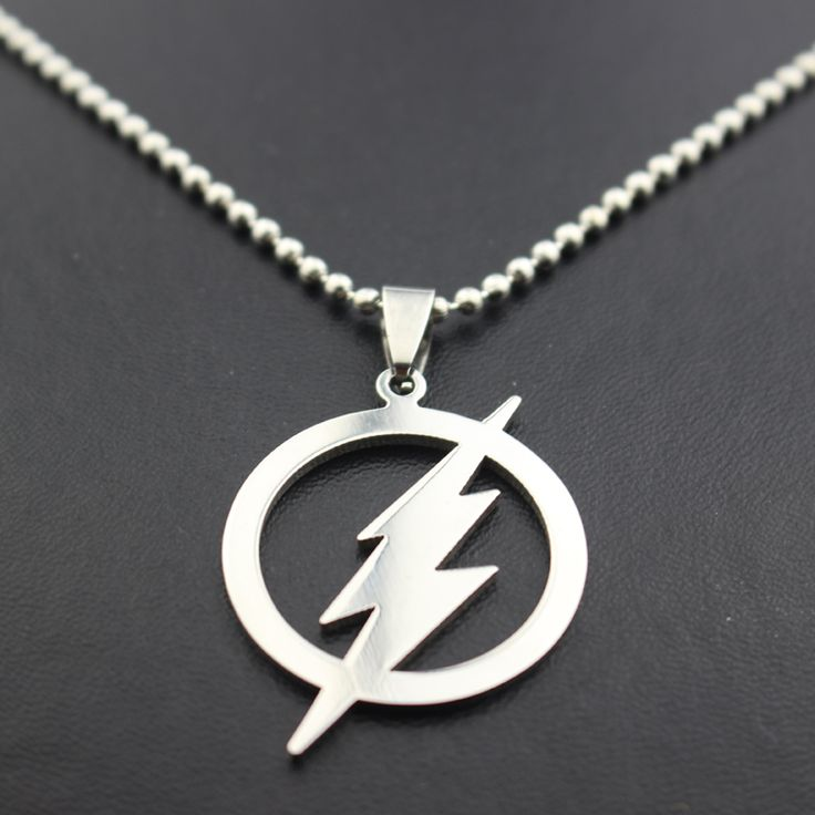 The Flash Silver Plated Necklace DC World Shop http://dcworldshop.com/the-flash-silver-plated-necklace/    #suicidesquad #superhero #dcuniverse #bataman #superman