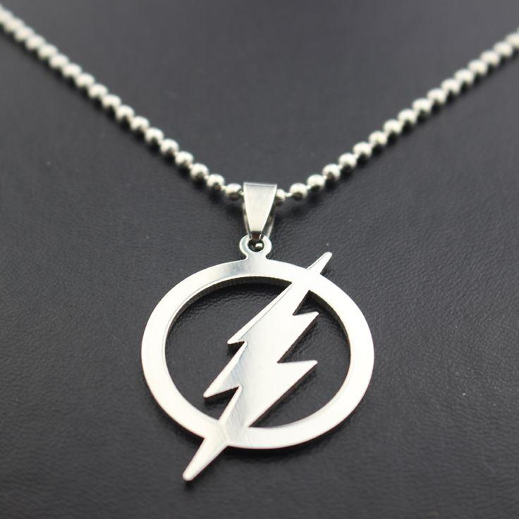 The Flash Silver Plated Necklace DC World Shop http://dcworldshop.com/the-flash-silver-plated-necklace/    #suicidesquad #superhero #dcuniverse #bataman #superman