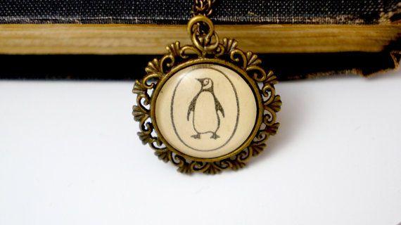 Penguin book necklace- literary jewellery