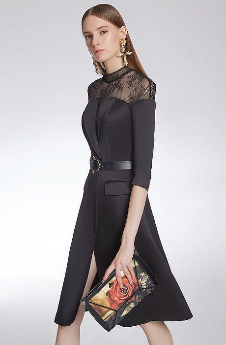 Westfront – Black Gown with Lace Ceremony, Weddings, Events – Westfront – #black…