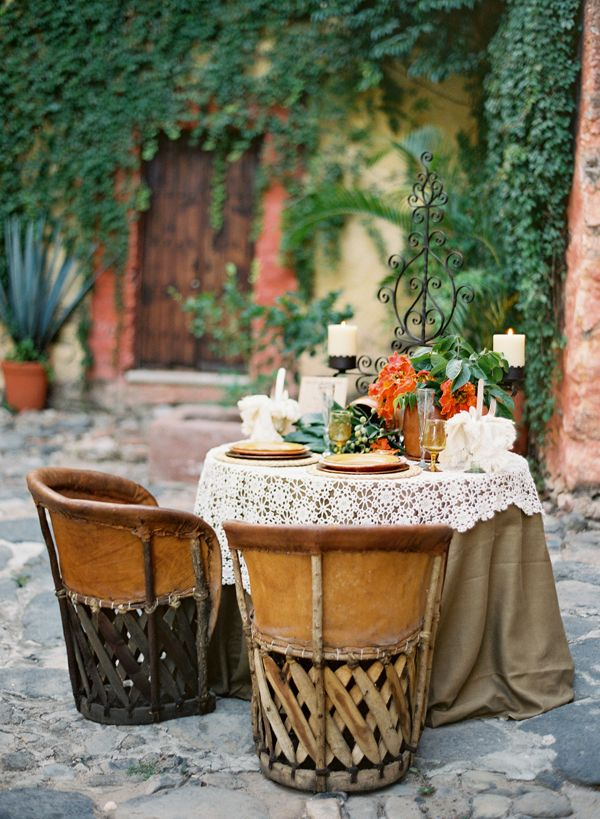 (via inspirationlane) #Equipales #Chair #Wedding #Events #OutdoorLiving #Dining