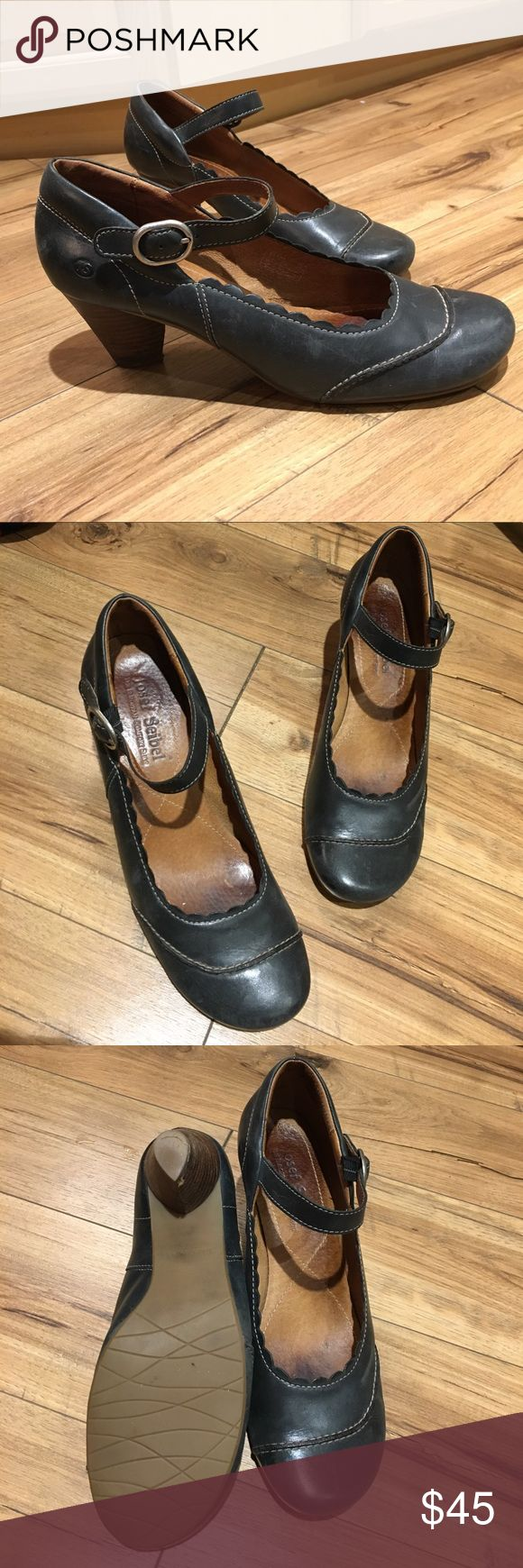Josef Seibel leather heels, size 10. European comfort shoe with stacked heel to keep you stylish and comfortable all day long. Josef Seibel  Shoes Heels