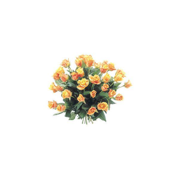 Faxiflora -mazzi Di Fiori - Rose Arancio A Gambo Medio found on Polyvore