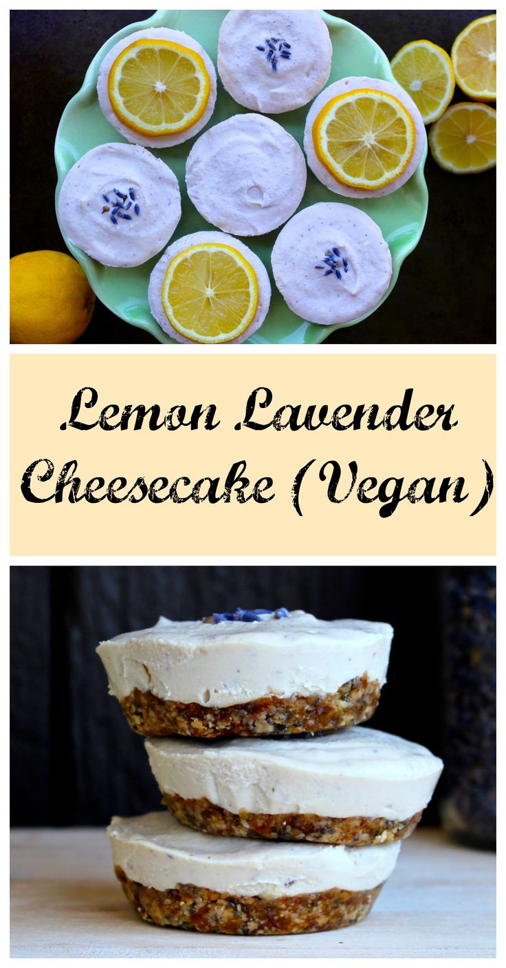 Lemon Lavender Cheesecake (raw, vegan, gluten-free, low-glycemic)