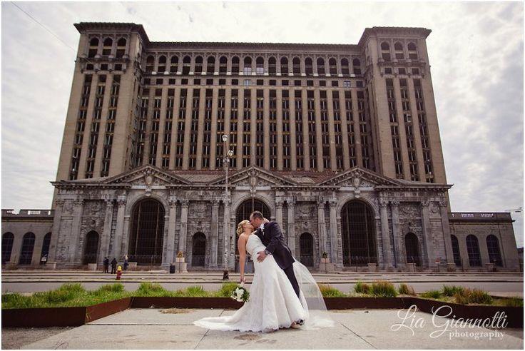 The Old Train Station, Michigan Central Station, Detroit, MI  Lia Giannotti Photography, Van Buren Twp, Michigan, Ann Arbor, Detroit, Michigan Wedding, Engagement Photographer