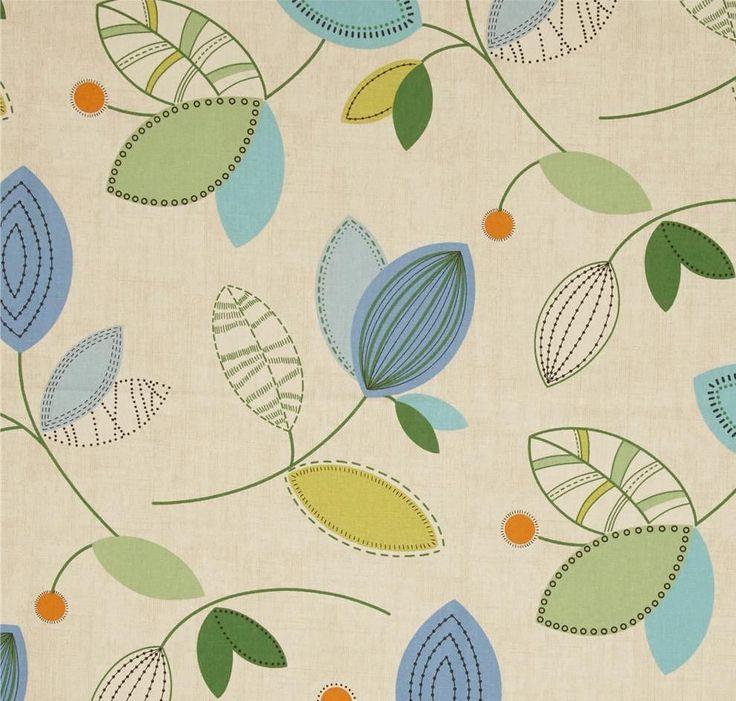 Magnolia Home Fashions Calder Ocean Fabric