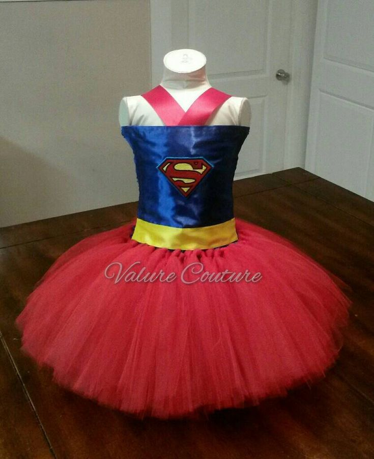 Excited to share the latest addition to my #etsy shop: Inspired Tutu Dress Infant Toddler Girls Baby Newborn Halloween Birthday Outfit Blue Red Yellow http://etsy.me/2Dg4njb #clothing #children #girl #red #halloween #blue #supergirl #superman #batman