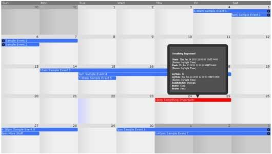 jQuery Frontier Calendar