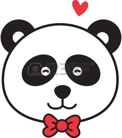 Resultado de imagen para oso panda dibujo solo caras