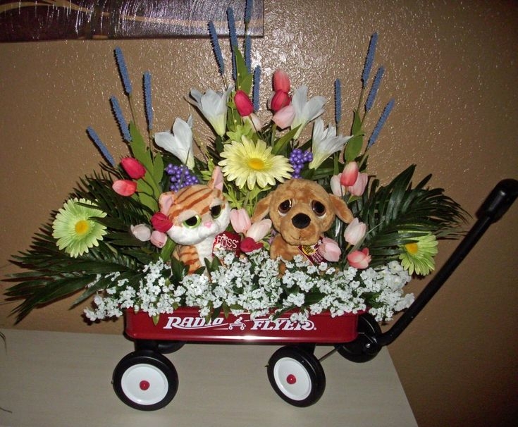 Gift Sets 134756: Floral Arrangement, Baby Shower Radio Flyer Wagon, This Has It All!! Boy Girl -> BUY IT NOW ONLY: $64.99 on eBay!