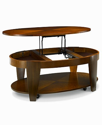 Oasis Coffee Table, Oval Lift Top   Furniture   Macyu0027s $499