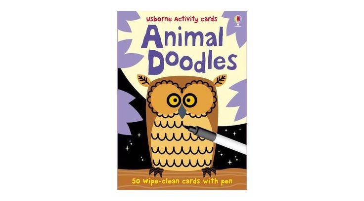 Állatos Firka-kártya (Animal Doodles) - angol nyelvű játék. Szeretsz rajzolni? Szeretsz kreatív feladatokat megoldani? Akkor ezt a firka-kártyát neked találták ki! #usborne #okosodjvelunk